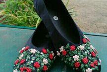 sepatu bordir dan sulam