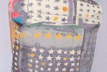 Дизайнерская джинсовая жилетка / Дизайнерская эксклюзивная одежда