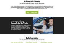 auto finance lading page design