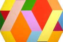 abstract geometric  / #colors #color #abstract #geometric #patterns #design
