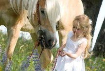 Ember és a ló / Man and horse / .