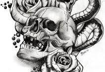 skull / Dies ist eigentlich nur eine Ideen Pinnwand für mich, da ich jetzt auch gerne mal wieder Totenköpfe (Skulls ) zeichnen möchte. Freue mich trotzdem, wenn euch diese Bilder gefallen. :)