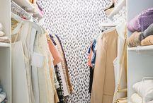 Closet / Fun, colorful closet decorations and how to organize a small closet.