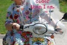 GROWING OLDER FEELING YOUNG / Your never to old to have fun and laugh.Were allowed to be silly by making silly faces and a friend to be silly with.Were enjoying life and laughter and silliness helps to keep us young plus it's good for the heart.:) / by Sandra Hozey