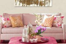 Pink/gold/white closet inspo