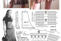 Связанные крючком юбки