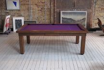 Modern Pool Table Range / Our Modern Pool Table's are available in sizes from 5' to 9' and can be bought with an optional dining top to make it a Pool Dining Table.