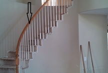 Bob Lipseyu0027s Remodeled Staircase / Replace Hardwood Post, Add End Treads,  And Strip And