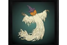 Halloween Stuff / A collection of Halloween clothing, greeting cards, accessories, and decor.