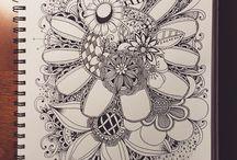 KVETY / kresby kvetov