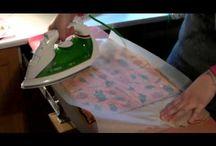 Overføre servietter til andet materiale