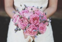 Louise & Rob / September 2014 creams, whites, lilacs, purples, lavenders and shell pinks.  Bridesmaids are wearing navy