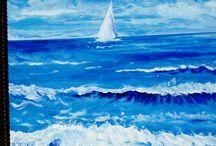 Seebilder / die selbst gemalten Bilder bekannt machen