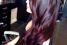 purple/red/burgundy hair