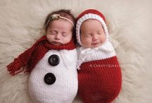 Knitted baby props