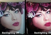 VBurst 3x3 Curved Backlit / Side by side comparison of VBurst Backlit