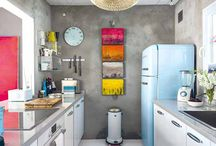 Design w kuchni / Tablica przedstawia pomysły i inspiracje dla wystroju kuchennego wnętrza, biorąc pod uwagę najnowsze trendy w dziedzinie kuchennego designu i rozwiązań technologicznych.