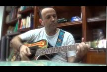 Practicando guitarra