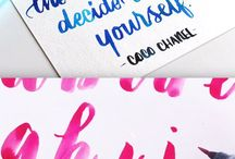 Waterbrush Lettering