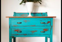 Painted BLUE Furniture / Dorothy Sue and Mille B's too