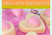 homemade soaps/bath bombs etc