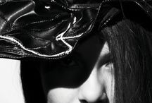 HAT DESIGNS / The geometrical hats with manipulated leather have changeable shapes by Senay Aslan