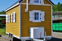 Tiny house sur roue / Photos de fabrication de chalet quadrapol.fr Tiny house en instance de départ !