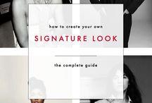fashion, signature look etc