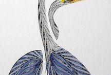 Квиллинг - птицы.