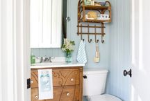 Plank bathroom walls / by Carrie Bailey