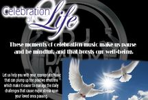 Celebration of Life Victoria / What's takes place in a celebration of life? The term 'celebration of life' is fairly loose. There are no formal arrangements or traditional procedures because events are specifically tailored to the deceased or the wishes of their family and friends. Fundamentally, what sets them apart from funerals is the atmosphere. Rather than focusing on grieving a loss, they place more emphasis on  celebrating the life in a joyous manner. Click here:  http://www.djdaddymack.com/Celebration%20of%20life.html