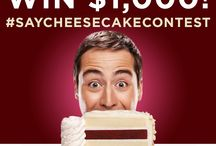 #SayCheesecakeContest 2015 / Take a selfie with your cheesecake and upload to Twitter, Instagram, or our pinned Facebook post (http://on.fb.me/1MtWKWo) with #SayCheesecakeContest July 29th-31st for a chance to win $1,000!* http://bit.ly/saycheesecake *Contest period from July 29, 2015 to July 31, 2015. No purchase necessary. See Official Rules for limits on eligibility and description of prize. bit.ly/1KyQu0e