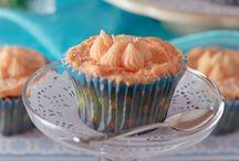 Keto orange and almond cupcakes