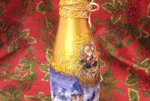 Декор для бутылки шампанского
