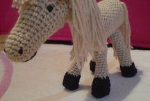 crochet horse & Unicorn