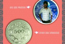 Our Work...Printing / We do Printing on Silver & Gold Coins n Notes for Personalized, Corporate & Devotional Gifting. Brand Promotion etc.For More Details Pls Message Me on Pinterest