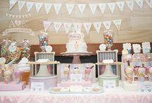 """A&K Lolly Buffet {Pastel """"Vintage Ice Cream"""" Themed Dessert Buffet} / http://aandklollybuffet.com.au/pastel-ice-cream-themed-1st-birthday-party-dessert-table/"""