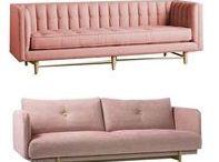 Rose pink furniture