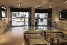 glazentafel.com Showroom / Een aantal foto's van onze Showroom aan de Volmolengracht 4, te Leiden.