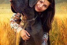 Girl with dog photogrpahy