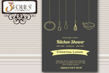 Bridal Showers / Bridal Shower Invitations / by Three Fours Design
