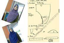 jahit tudung/ hijab