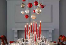Decoración navideña mesa