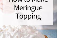 Meringue topping