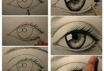 silmien, nenän, suun piirtäminrn