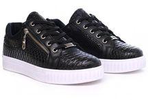 Heren Lage Python Sneakers - Zwart