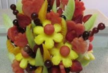 Fruit/flower arrangements and things