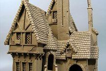 modelled houses.