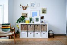 WALL DECOR / Wall art and expedit book shelf