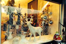 Window display / Shop window display Christmas, new year, Easter, valentines and Mother's Day